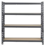 STEEL SHELF 600KG W/4 SHELVES