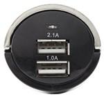 SMARTPHONE LADER 12V DOBBELT USB 2,1A